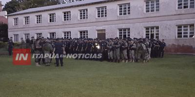 AHORA: UNOS 180 EFECTIVOS POLICIALES INICIAN DESALOJO EN SAN BENITO