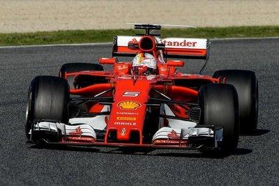 Vettel fue la estrella del día en Montmeló