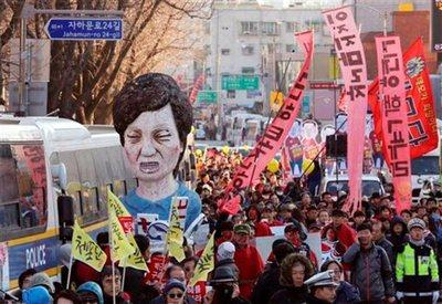 Miles de surcoreanos y partidos políticos celebran salida de Park