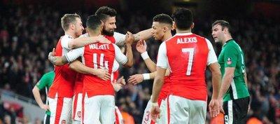 Arsenal acaba con el sueño del Lincoln y pasa a semifinales de la FA Cup