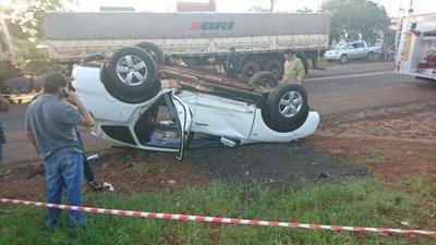 Hija de intendente de Edelira en choque de vehículos