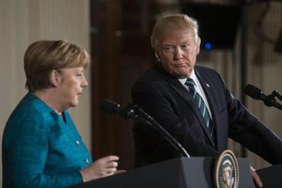 Compleja reunión en Whashington: Angela Merkel y Donald Trump