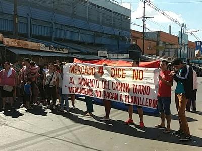 Los vendedores del Mercado 4 se oponen a la suba del canon municipal