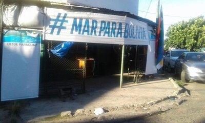 Se manifiestan por el mar para Bolivia