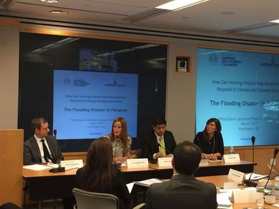 Ministra Núñez expone sobre barrio San Francisco en conferencia del Banco Mundial