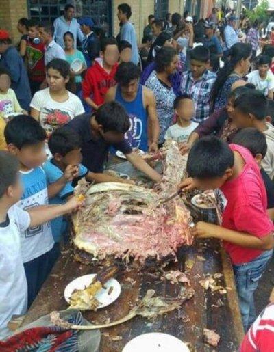 Dieron de comer carne cruda a niños en Ybycuí