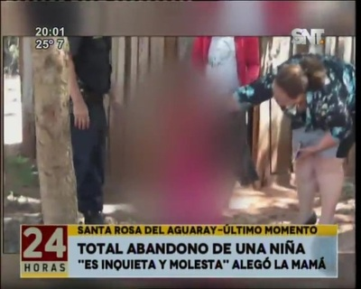Niña abandonada fue rescatada de una precaria pieza en Santa Rosa del Aguaray