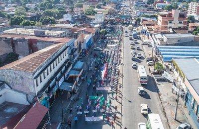 Raleada marcha de Federación Campesina