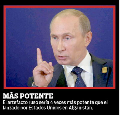 """Rusia tiene """"el padre de todas las bombas"""""""