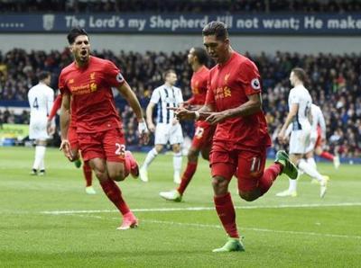Liverpool vence con lo justo a West Bromwich