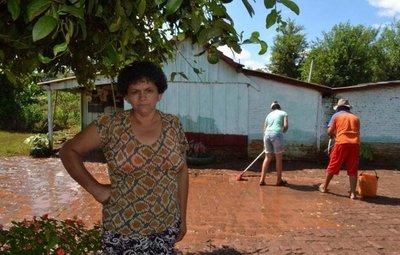 Varias comunidades del noreste de Itapúa, afectadas por las lluvias