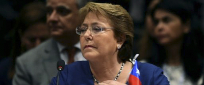 Bachelet alcanza 25 % de aprobación ciudadana