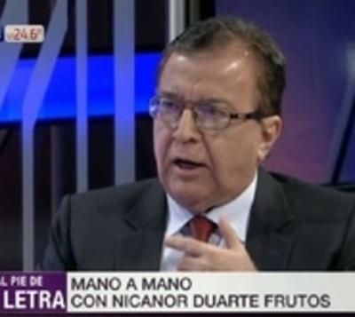 """Nicanor habla de """"Estado fallido"""" ante avance del crimen organizado"""