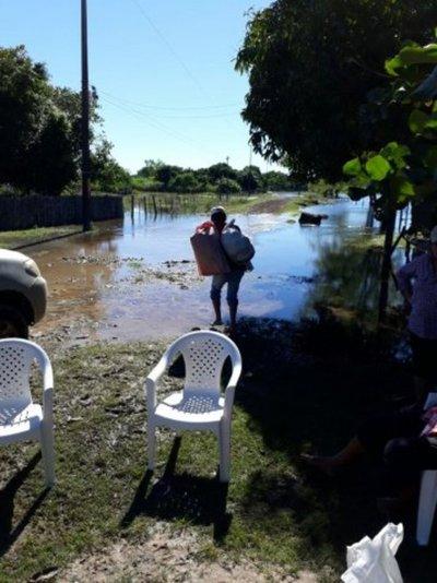 San Juan Bautista Ñeembucú con centenar de familias afectadas