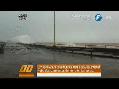 EBY abrirá sus compuertas ante furia del Río Paraná