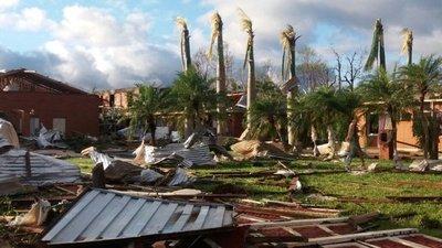 Fuerte temporal ocasiona destrozos en Caazapá
