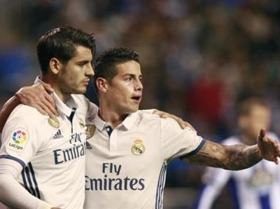 Real Madrid golea a placer a La Coruña
