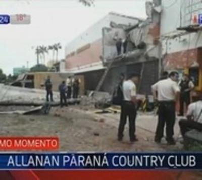 Encuentran vehículo blindado en el Paraná Country Club