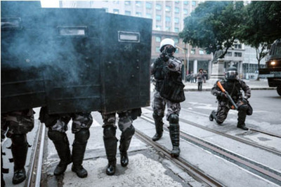 Dura protesta contra Temer en Brasil