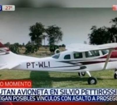 Caso Prosegur: Incautan avioneta en aeropuerto Silvio Pettirossi