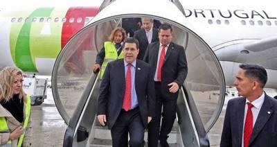 Presidente Cartes llegó a Portugal para visita oficial