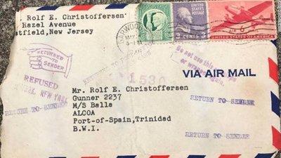Marinero recibe carta de amor luego de 72 años