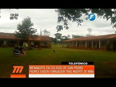 Meningitis: exigen fumigación de escuela tras muerte de una niña