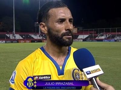 Julio Irrazábal fue la figura del partido