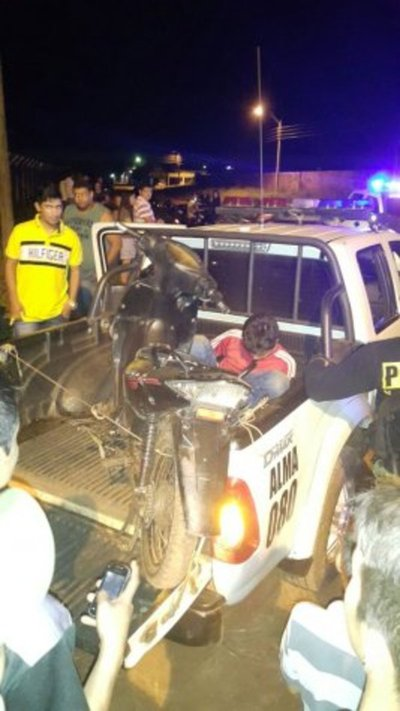 Policía detiene a motochorro en Pedro Juan Caballero