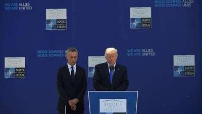 """Trump pide a socios de la OTAN que """"cumplan con obligaciones financieras"""""""