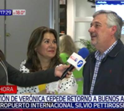 Avión de Cepede retornó a Buenos Aires por condiciones climáticas