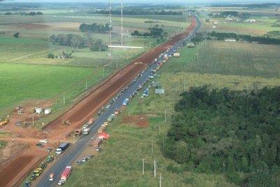 Tractores, rumbo a Asunción
