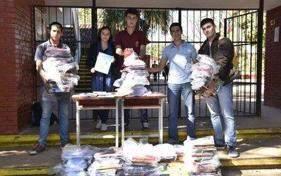 Alumnos donarán libros del MEC