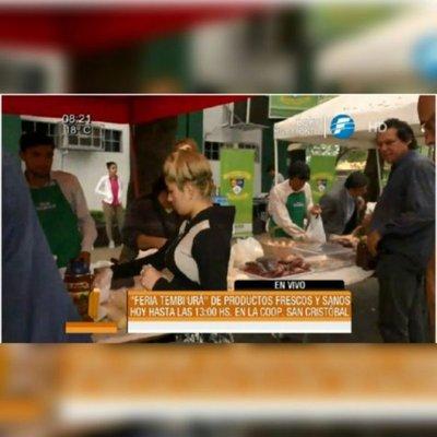 Feria Tembiurã, productos saludables y frescos