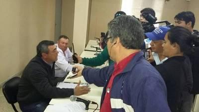 Incidentes en la sesión de la Junta del Guairá