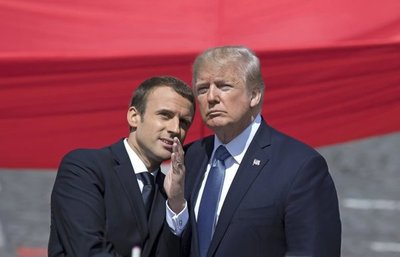 Trump y Macron escenifican complicidad en la Fiesta de París