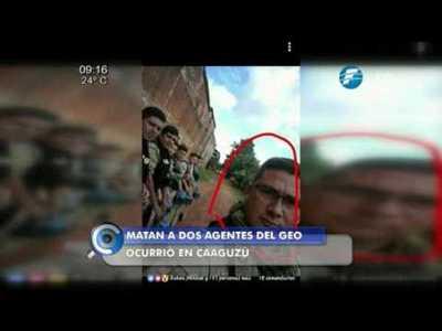 Asesinan a dos agentes del GEO en Caaguazú