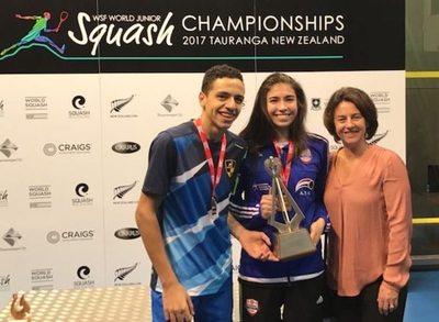 Paraguaya campeona en Mundial Junior de Squash en Nueva Zelanda