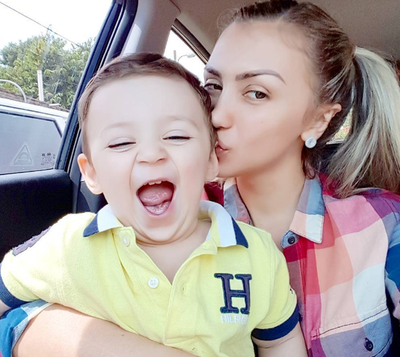 La Ex Calle 7 Paola López Celebró El Cumple De Su Hijo Valentino
