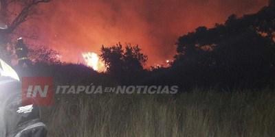 BOMBEROS DE ITAPÚA SIN RECURSOS TRAS  LOS GRANDES INCENDIOS FORESTALES.
