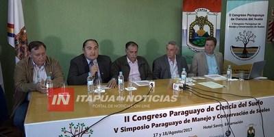 LLEGA EL II CONGRESO DE CIENCIA DEL SUELO EN ITAPÚA