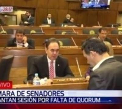 Senado levanta sesión y no da entrada a veto presidencial