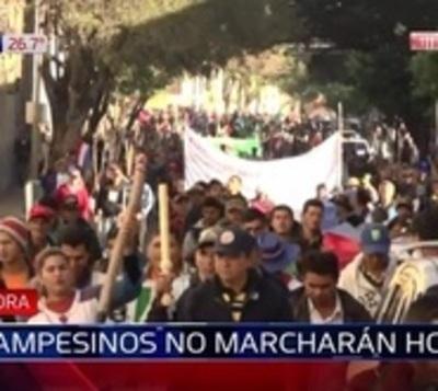 Campesinos no marcharán y aguardan que Senado trate el veto este lunes