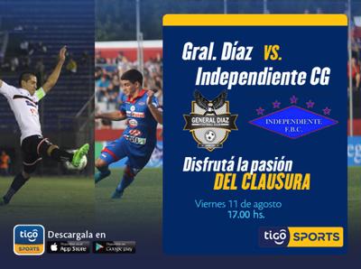 General Díaz recibe a Independiente CG