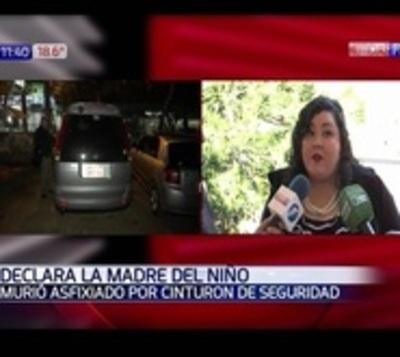 Madre declara por muerte de su hijo asfixiado por cinturón