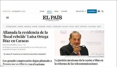 Tras varios años, Web de El País se desbloquea en China