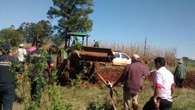 Violento desalojo de comunidad campesina en Itapúa