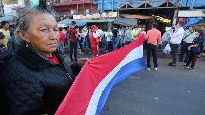 Protesta en el Mercado 4 en contra del canon