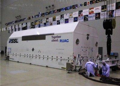 El satélite español Amazonas 5 llega a Baikonur