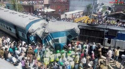 Tragedia en India: Choque de trenes deja 23 muertos